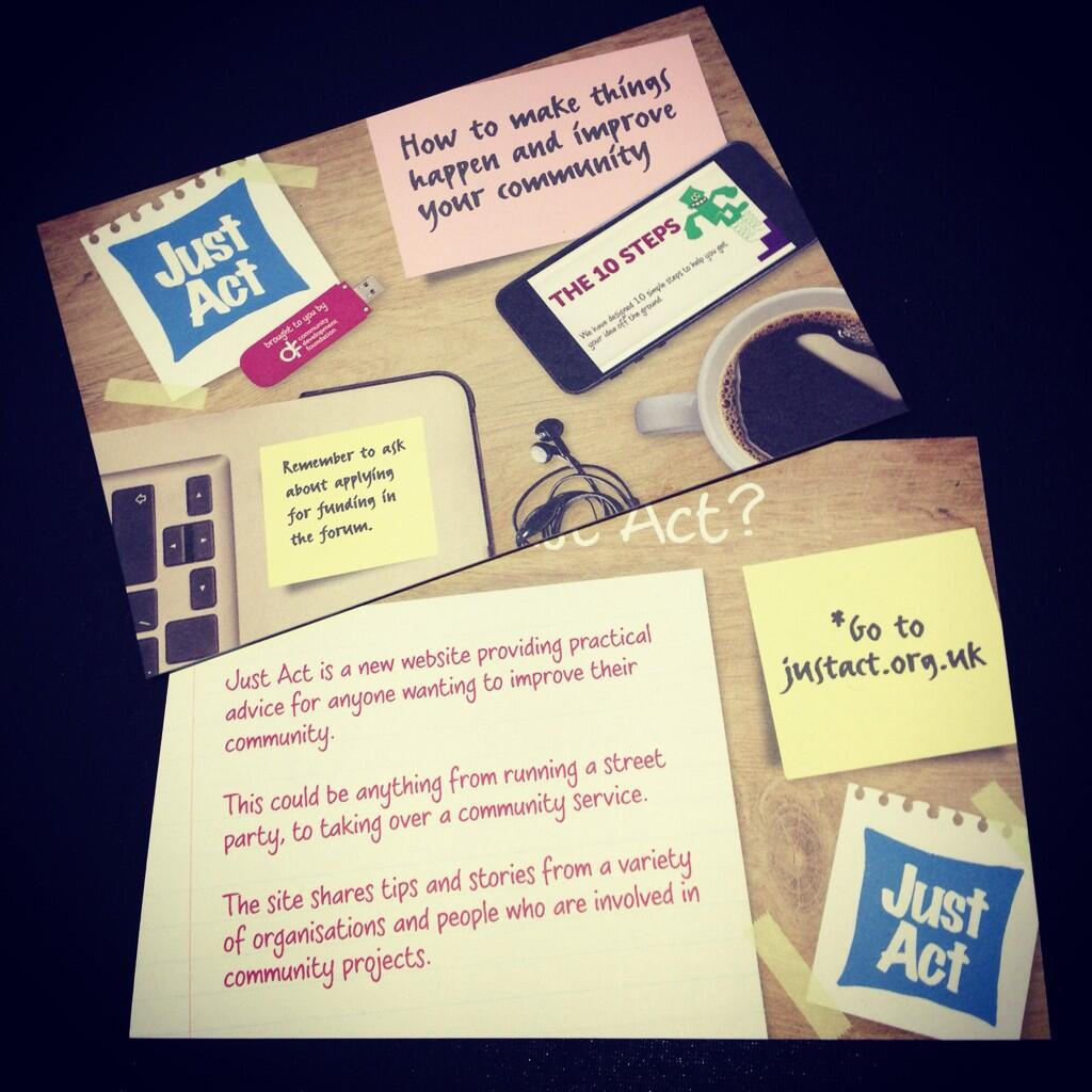 Just Act postcard