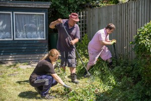 young people gardening - off site