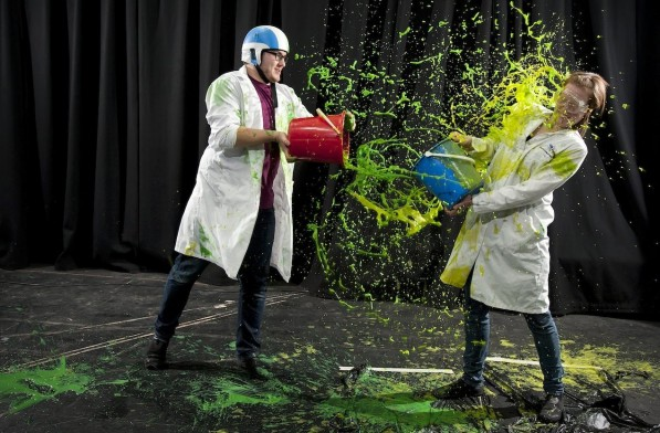 Science buskers at Assemble Fest